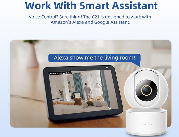 La IMILAB C21 es compatible con Amazon Alexa