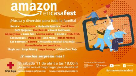 #AmazonEnCasaFest: Amazon te invita a su festival online este sábado