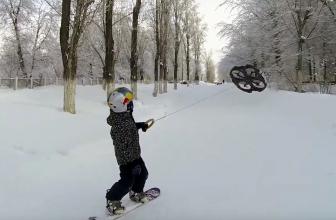 Droneboarding, tablas de snowboard con drones