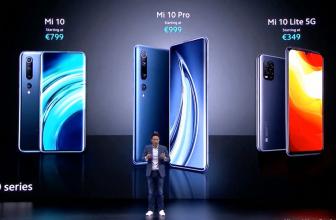 El Xiaomi Mi 10, Mi 10 Pro y Mi 10 Lite 5G hacen su debut global