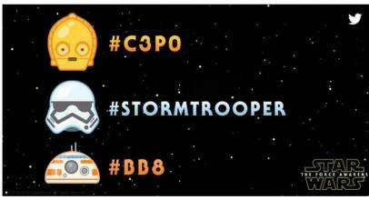 Emojis de Stars Wars de Twitter ya están disponibles