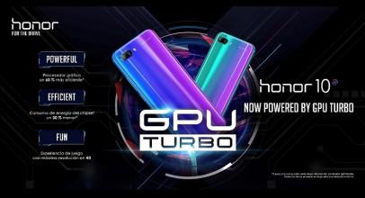 Honor 10 se actualiza con la tecnología GPU Turbo