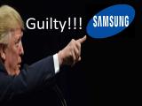 Donald Trump contra la compañía coreana Samsung