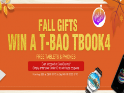 Fall Lucky Gifts, gana estupendos premios con Geekbuying