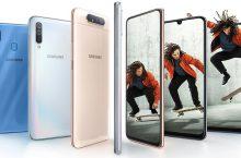 La serie Galaxy A afianza su posición con los nuevos A80, A40 y A20e