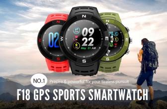 NO.1 F18, reloj deportivo con GPS y sensor cardíaco