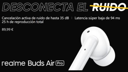 Nuevos RealmeBudsAir Pro con cancelación de ruido activa y baja latencia