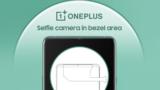OnePlus patenta una cámara frontal sobre el bisel superior