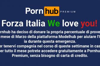 Pornhubofrece acceso gratuito a Premium en Italia por el Coronavirus