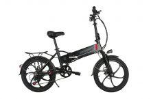 Samebike 20LVXD30, detalles de una bicicleta eléctrica tradicional