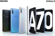 Samsung Galaxy A70, con pantalla colosal, cámara triple y gran batería