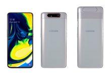Samsung Galaxy A80 arriba con triple cámara reversible