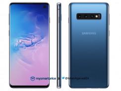 Samsung Galaxy S10 luce en color azul en nuevas imágenes