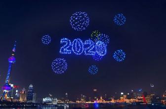 Shanghái reemplaza los fuegos artificiales por drones en el año nuevo