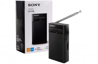 Sony ICF-P26 y Sony ICF-P36, pequeñas y clásicas radios AM/FM