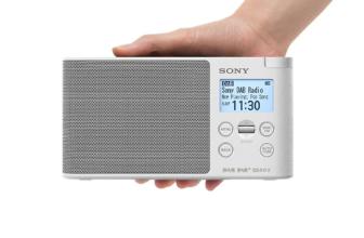 SonyXDR-S41D, radio DAB+ portátil con sello de calidad Sony
