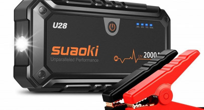 Suaoki U28, batería para teléfonos y automóviles con linterna integrada