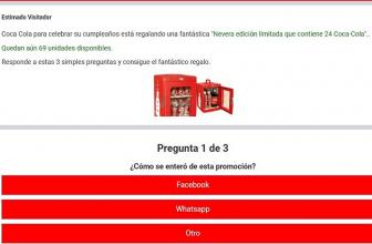 Vinci un Frigo Coca Cola ad edizione limitata, la nueva estafa de Whatsapp