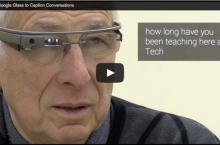 Google Glass con subtítulos cara a cara
