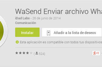 Enviar archivos por Whatsapp (hasta 150MB).