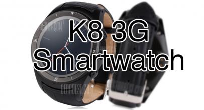 K8 3G Smartwatch: Gps, potencia y con Android puro y duro