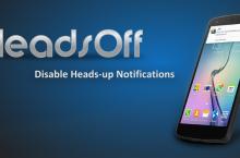 Quitar las notificaciones de Android: Headsoff