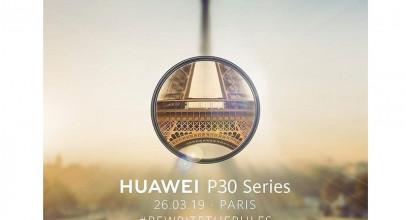 La serie Huawei P30 se presentará el 26 de marzo en París